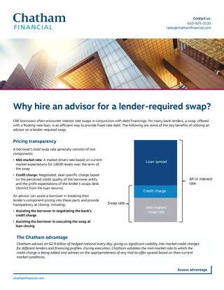 Why hire an advisor for a lender required swap