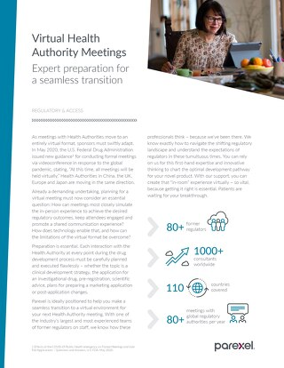 Virtual Health Authority Meetings Factsheet