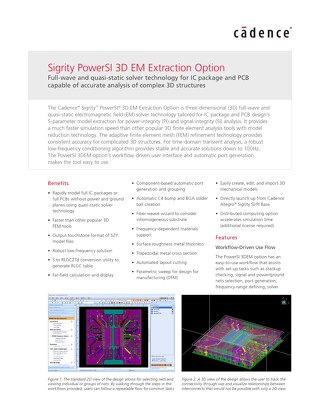 Sigrity PowerSI 3D EM Extraction Option