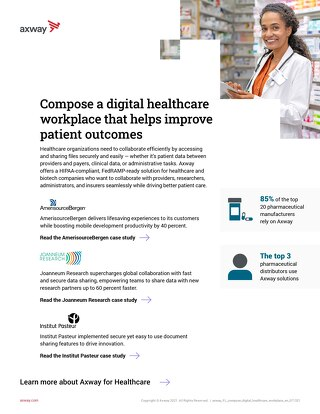 Compose a digital healthcare workplace that helps improve patient outcomes