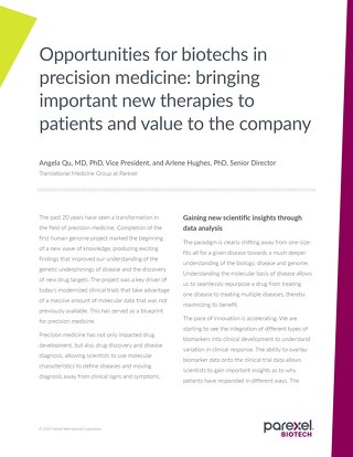 Opportunities for biotechs in precision medicine