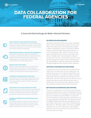 Data Collaboration for Federal Agencies