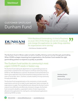 Customer Spotlight: The Dunham Fund