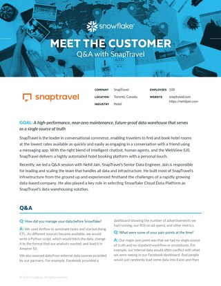 SnapTravel: Meet the Customer Q&A