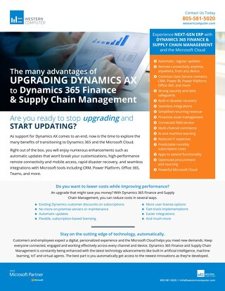 The Advantages of Upgrading Dynamics AX to D365 Finance & SCM