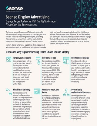 6sense Display Advertising One Pager