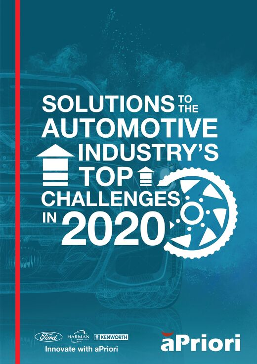 aPriori Infographic Solutions to the Automotive Industry's Top Challenges in 2020