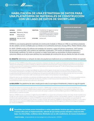 Habilitación De Una Estrategia De Datos Para Una Plataforma De Materiales De Construcción  Con Un Lago De Datos De Snowflake