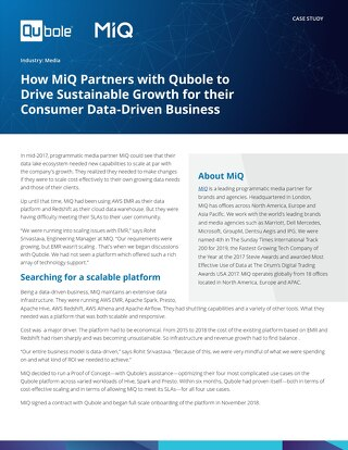 Learn how we helped MiQ scale their data lake ecosystem to be on par with their company's growth