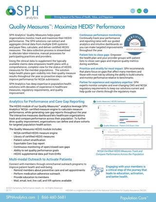 Solution Brief - Quality Measures HEDIS
