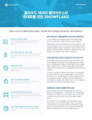 클라우드 데이터 웨어하우스의 현대화를 위한 SNOWFLAKE