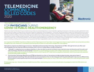 Telehealth Codes and Example Reimbursement