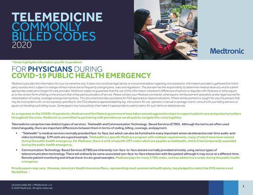 Telehealth Codes and Example Reimbursement