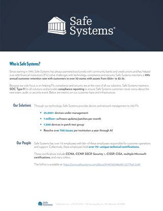 Who is Safe Systems?