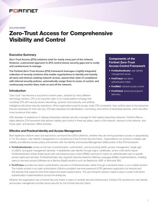 Zero-Trust Network Access for Comprehensive Visibility and Control
