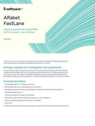 FACT SHEET ALFABET FASTLANE - Comece a gerenciar seu portfólio de TI na nuvem – em minutos!