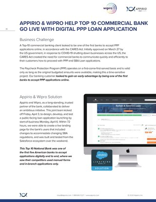Loan Lifecycle Solution for Commercial Banks