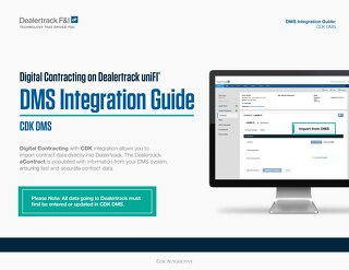 Digital Contracting DMS Integration Guide - CDK