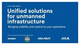 Unmanned Infrastructure Solutions Webinar Presentation