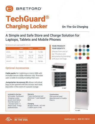 TechGuard Charging Locker Spec Sheet