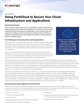 Using FortiCloud to Secure Your Cloud Infrastructure and Applications