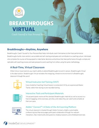 Breakthroughs Virtual Delivery