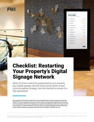 Tips For Restarting Your Property's Digital Signage Network