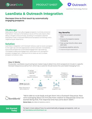 Outreach Integration Datasheet