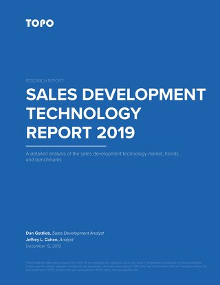 TOPO_Sales Development Technology Report 2019