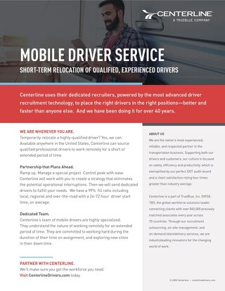 Mobile Drivers Service [Info Sheet]