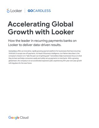 Accelerating Global Growth with Looker
