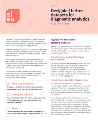 Guide | Designing Better Datasets for Diagnostic Analytics