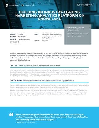 Building an Industry-leading Marketing Analytics Platform on Snowflake