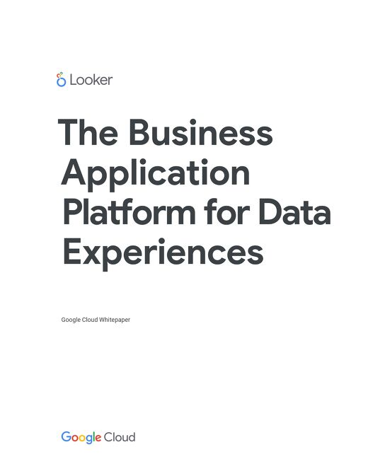 The Business Application Platform for Data Experiences