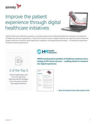 Melhore a experiência digital de pacientes por meio de iniciativas de Healthcare