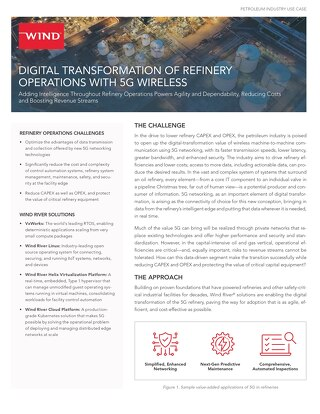 Digital Transformation of Refinery Operation with 5G Wireless