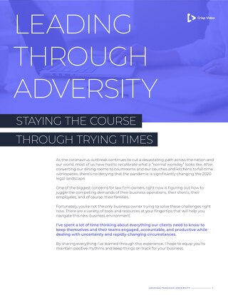 Leading Through Adversity Staying the Course Through Trying Times