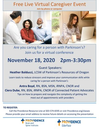 Parkinson's Caregiver Event