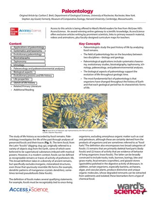 Ward's World+McGraw Hill Palentology Activity