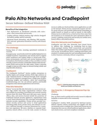Palo Alto Networks & Cradlepoint Solution Brief