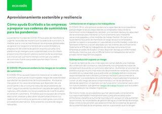 Aprovisionamiento sostenible y resiliencia