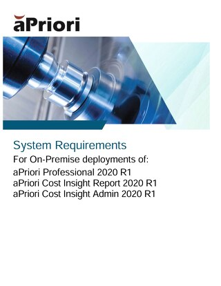 aPriori 2020 R1 System Requirements