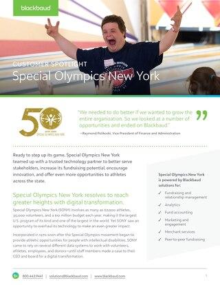 Special Olympics New York Customer Story