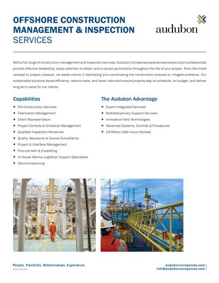 Offshore Construction Management Inspection Services