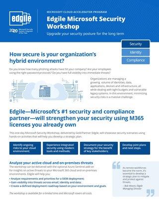 Edgile Microsoft Security Workshop