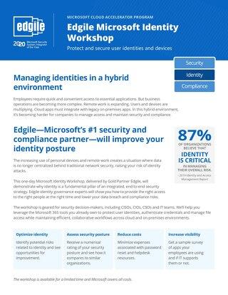 Edgile Microsoft Identity Workshop