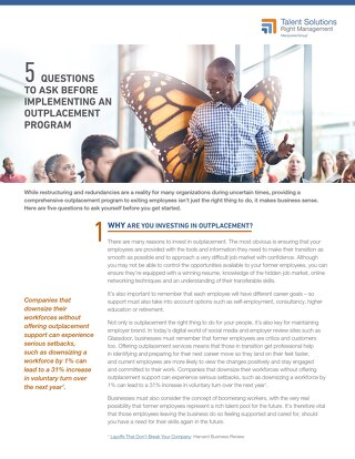 5 Questions to Ask Before Implementing Outplacement