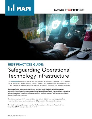 Safeguarding Operational Technology Infrastructure