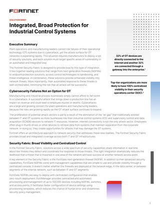 Protection for Industrial Control Systems