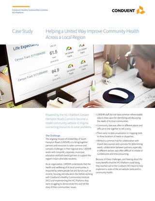 Case Study: Helping a United Way Improve Community Health Across a Local Region